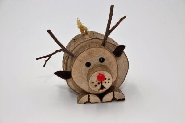 mall wooden Reindeer Christmas Decoration