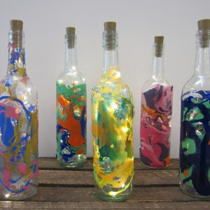 Decorated Bottle Lamps